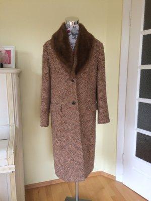 Landlady: klassischer Mantel mit abnehmbaren Pelz