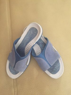 Lands' End Scuffs white-azure