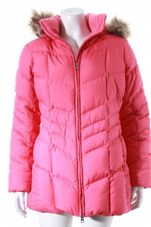 Lands' End Daunenjacke pink Steppmuster Kuschel-Optik
