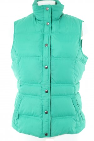 Lands' End Down Vest turquoise quilting pattern casual look