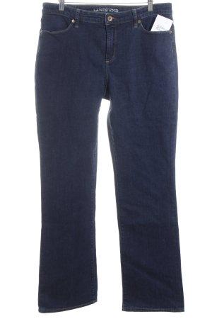 Lands' End High Waist Jeans dunkelblau Casual-Look