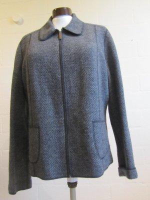 LANDS`END: Jacke aus Wolle, grau, Gr. 44