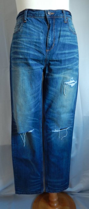 Lands End, Jeans, ripped,-destroyed,mittleres blau-Waschung,Gr. 44