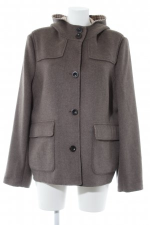 Lands' End Cappotto con cappuccio grigio scuro Elementi metallici