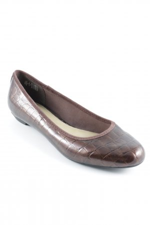 Lands' End Lackballerinas braun-schwarz Animalmuster Animal-Look