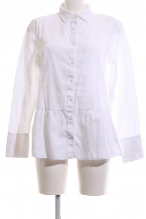Lands' End Camisa de manga larga blanco estilo «business»