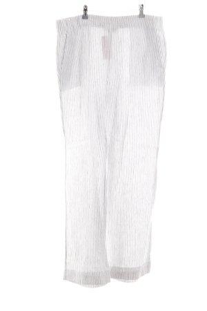 Lands' End Pantalón de lino blanco-gris claro estampado a rayas look casual