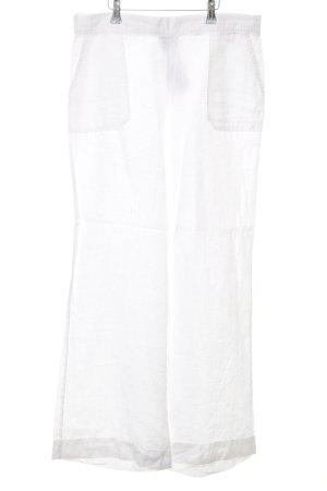 Lands' End Linnen broek wit minimalistische stijl