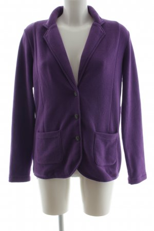 Lands' End Long-Blazer lila Casual-Look