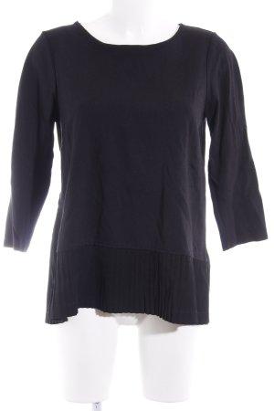 Lands' End Longshirt schwarz extravaganter Stil