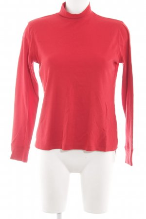 Lands' End Pull-over à col roulé rouge style simple