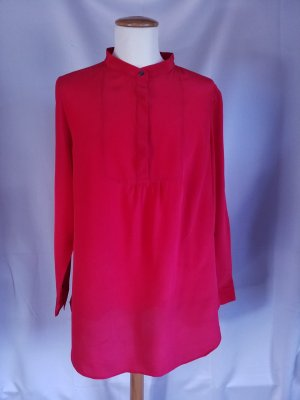 Lands' End Blusa de seda rojo ladrillo