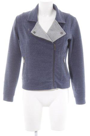 Lands' End Shirt Jacket blue-light grey flecked casual look