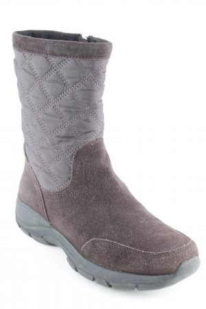 Lands' End Snow Boots brown quilting pattern casual look