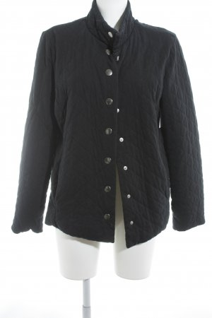 Lands' End Steppjacke dunkelblau-silberfarben Steppmuster Casual-Look