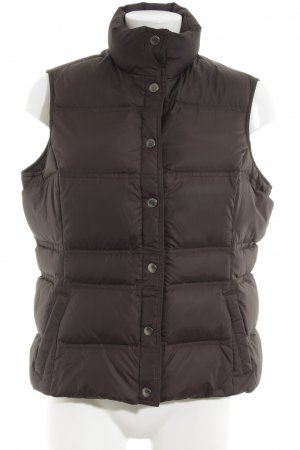 Lands' End Quilted Gilet bronze-colored-brown quilting pattern casual look