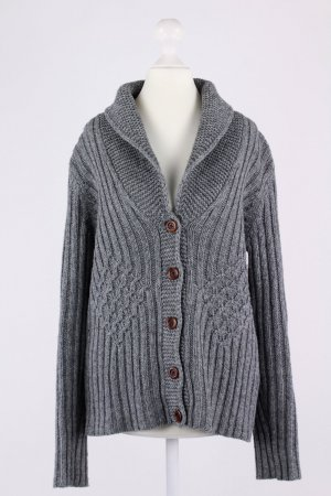 Lands' End Strickcardigan grau Größe S