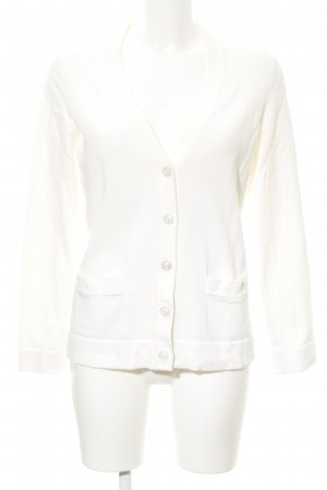 Lands' End Strickjacke creme Kuschel-Optik