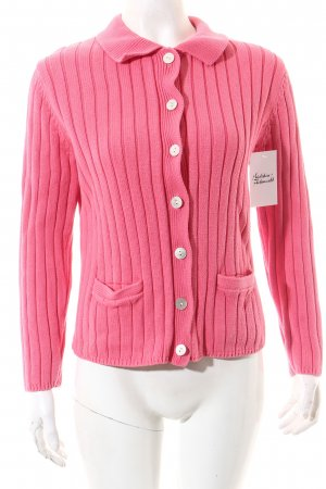 Lands' End Strickjacke pink klassischer Stil