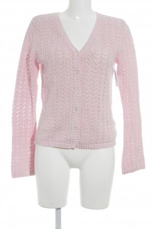 Lands' End Strickjacke rosa Casual-Look