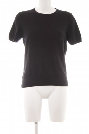 Lands' End Strickshirt schwarz Kuschel-Optik
