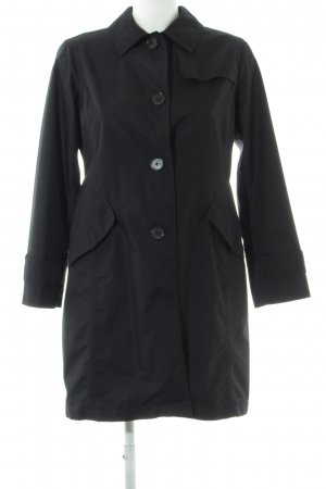 Lands' End Trenchcoat schwarz Casual-Look