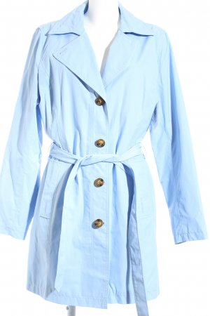 Lands' End Trenchcoat himmelblau Casual-Look