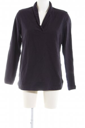Lands' End V-Ausschnitt-Pullover lila Casual-Look