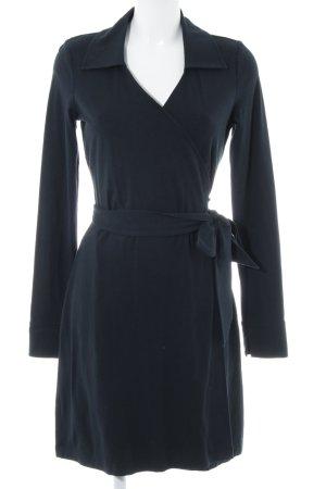 Lands' End Vestido cruzado azul oscuro estilo sencillo