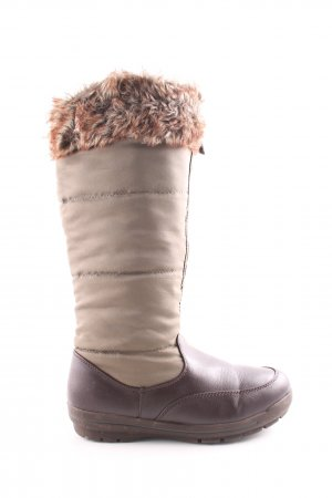 Lands' End Winter Boots brown-cream street-fashion look