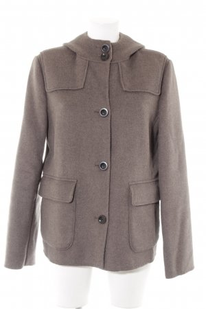 Lands' End Wolljacke graubraun Casual-Look