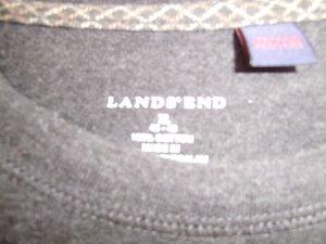 """LandsEnd""- Kurzarmshirt, neuwertig, anthrazit schwarz, XL, unisex"