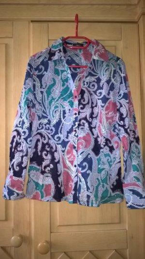lanfärmlige bunte Bluse
