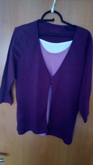 Veste chemise violet