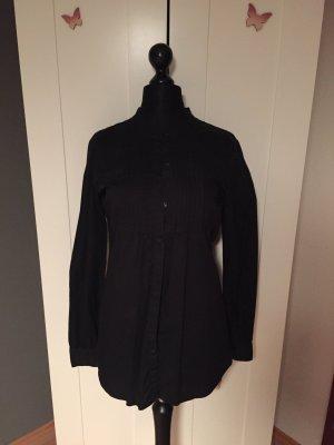 Lang-Bluse in schwarz