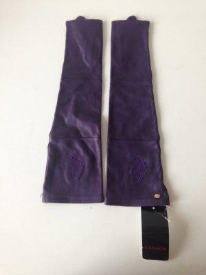 Lang Handschuhe Leder ohne Finger Show Bühne Statement-Piece Tokio Paris NYC WOW
