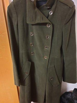 Mango Abito cappotto grigio-verde-verde oliva