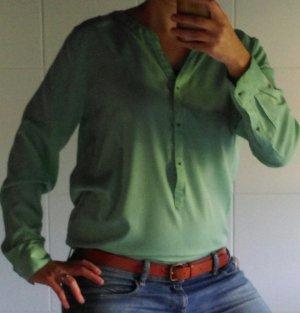 Langärmelige Bluse mint