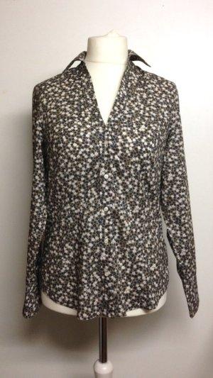 langärmelige Bluse mit floralem Muster in Größe 40