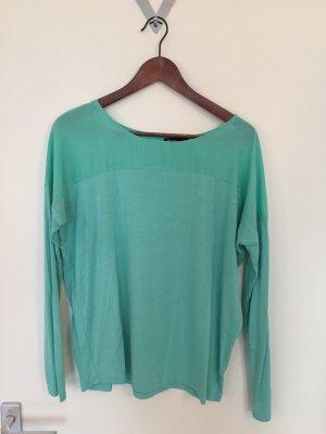 Langärmelige Bluse mit transparenten Einsatz