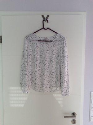 Esprit Slip-over blouse wit-zwart