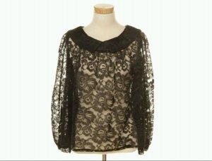 langärmelige spitze vintage bluse gr. M