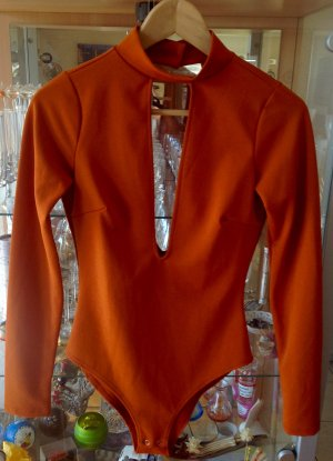 Forever 21 Top tipo bustier naranja oscuro Poliéster