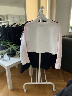 Langärmeliges Crop Top Sweatshirt
