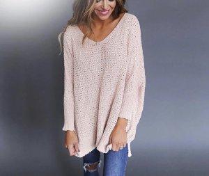 V-Neck Sweater pink-light pink