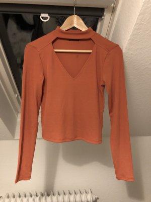 Zara Top recortado naranja oscuro
