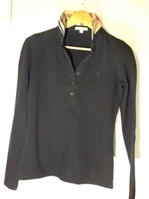 Langärmeliges Poloshirt aus Stretchbaumwollpiqué von Burberry