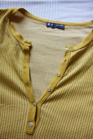 langärmeliges, senffarbenes Shirt von Petit Bateau