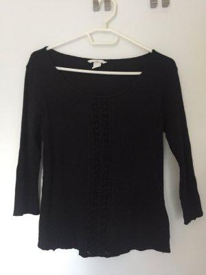 H&M Gehaakt shirt zwart