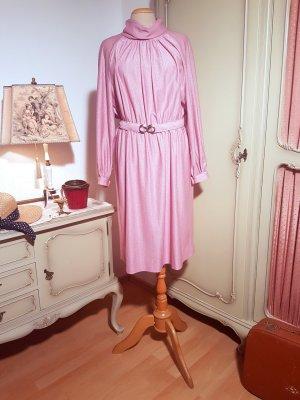 Langärmeliges Vintage-Kleid mit Gürtel | 70er 80er Jahre